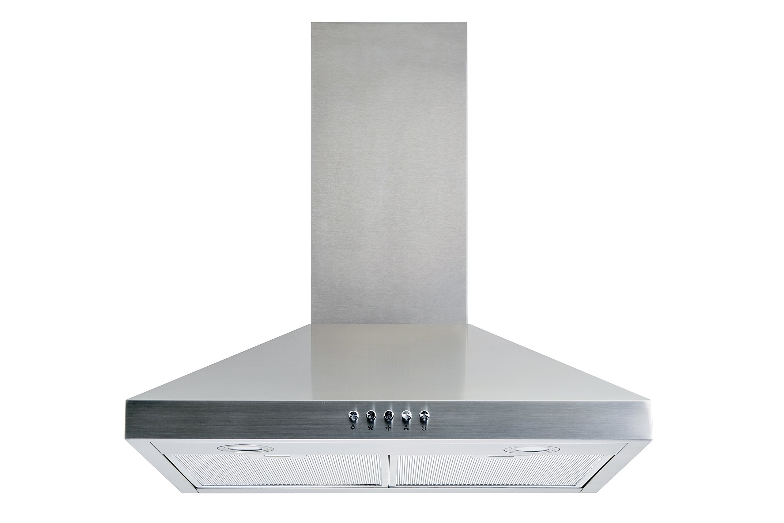 Winflo New 30'' Convertible Stainless Steel Wall Mount Range Hood with Aluminum Mesh filter, Ultra bright LED lights and Push Button 3 Speed Control by Winflo