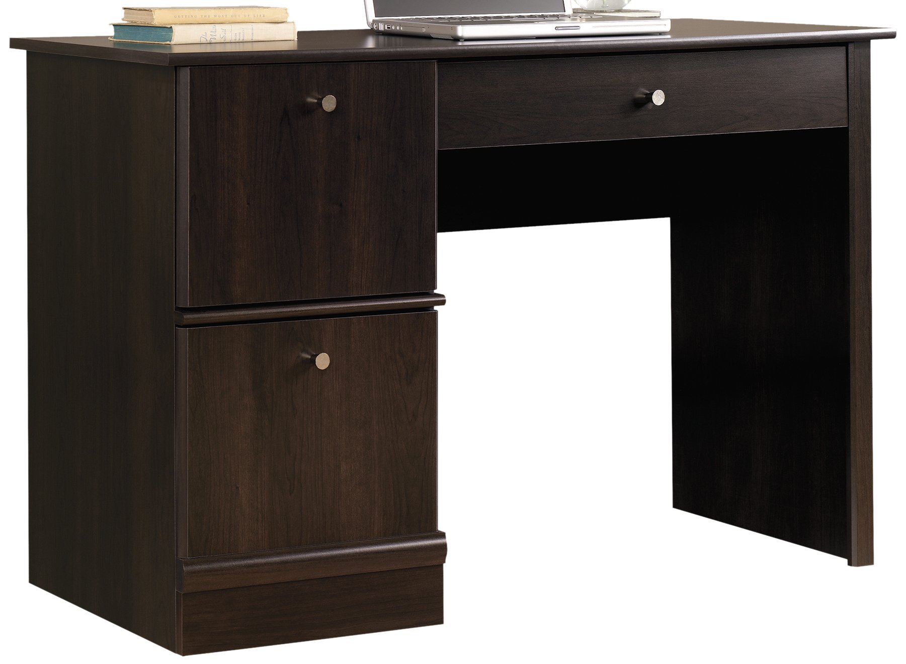 Sauder 408995 Computer Desk, L: 46.54'' x W: 18.50'' x H: 30.16'', Cinnamon Cherry Finish by Sauder
