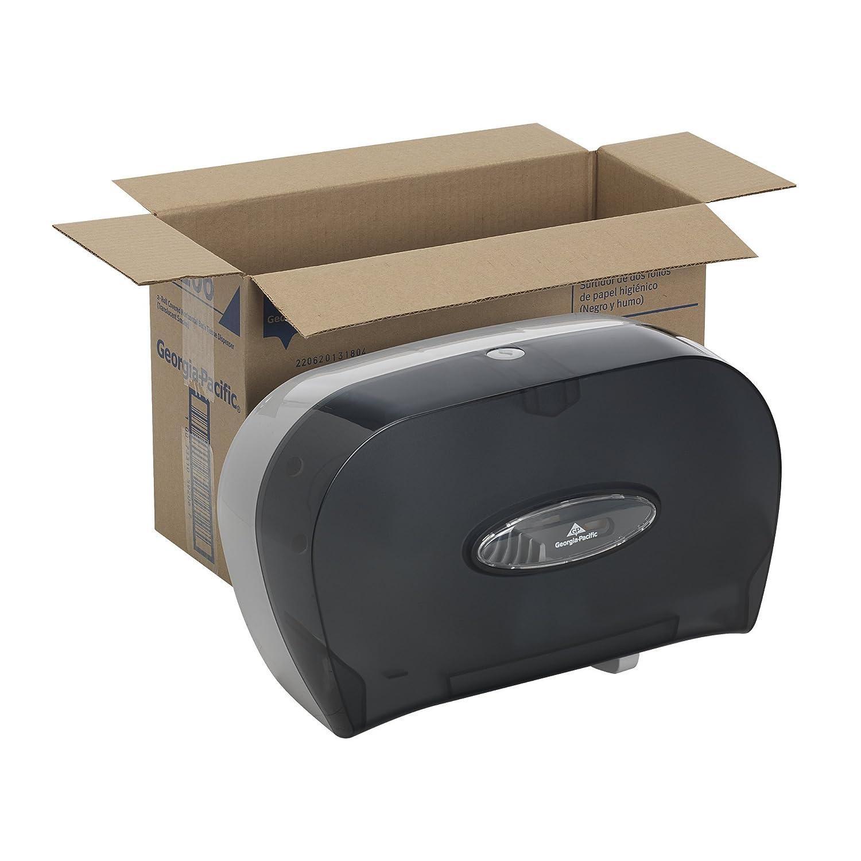 592-06 translúcido humo de dos rodillos Side-by-Side cubierto dispensador de papel higiénico, 13, 58