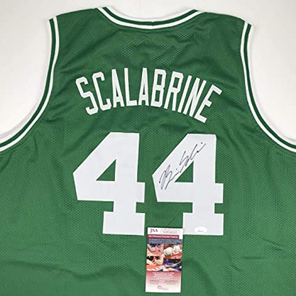 141f3fe2a Image Unavailable. Image not available for. Color  Signed Brian Scalabrine  Jersey - Green COA - JSA Certified ...