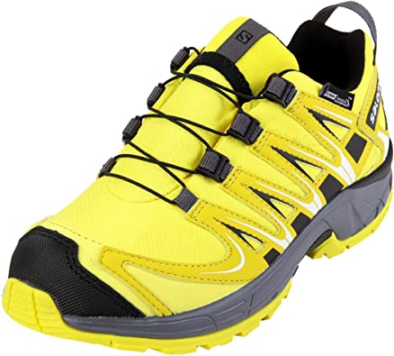 Salomon L39043500, Zapatillas de Trail Running para Niños, Amarillo (Corona Yellow/Alpha Yellow/Dark Clo), 38 EU: Amazon.es: Zapatos y complementos
