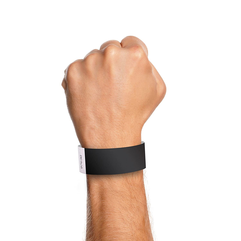 "500 Plain Black 3//4/"" Tyvek Paper Wristbands for Events,Festivals,Parties"