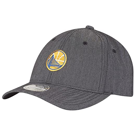 0ae2d838c09ac Image Unavailable. Image not available for. Color  Mitchell   Ness Golden  State Warriors BH72G7 110 Curved Poly Heringbone NBA Flexfit Snapback ...