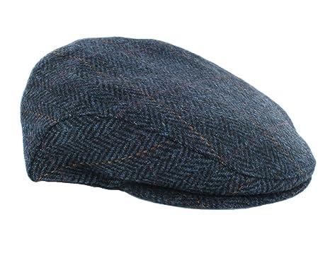 4e95b8a8bcaa3 Men s Ireland Wool Hat Flat Irish Cap Navy Herringbone Made in Ireland Small