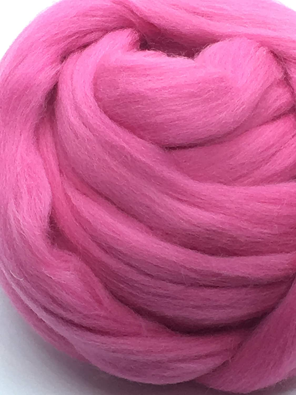 Felting Crafts USA Persian Red Wool Top Roving Fiber Spinning 1oz