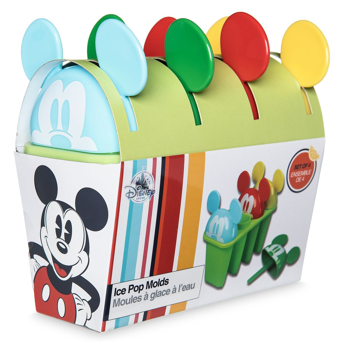 Mickey Ice Pop Mold - Disney Mouse Molds Set of 4 Molds