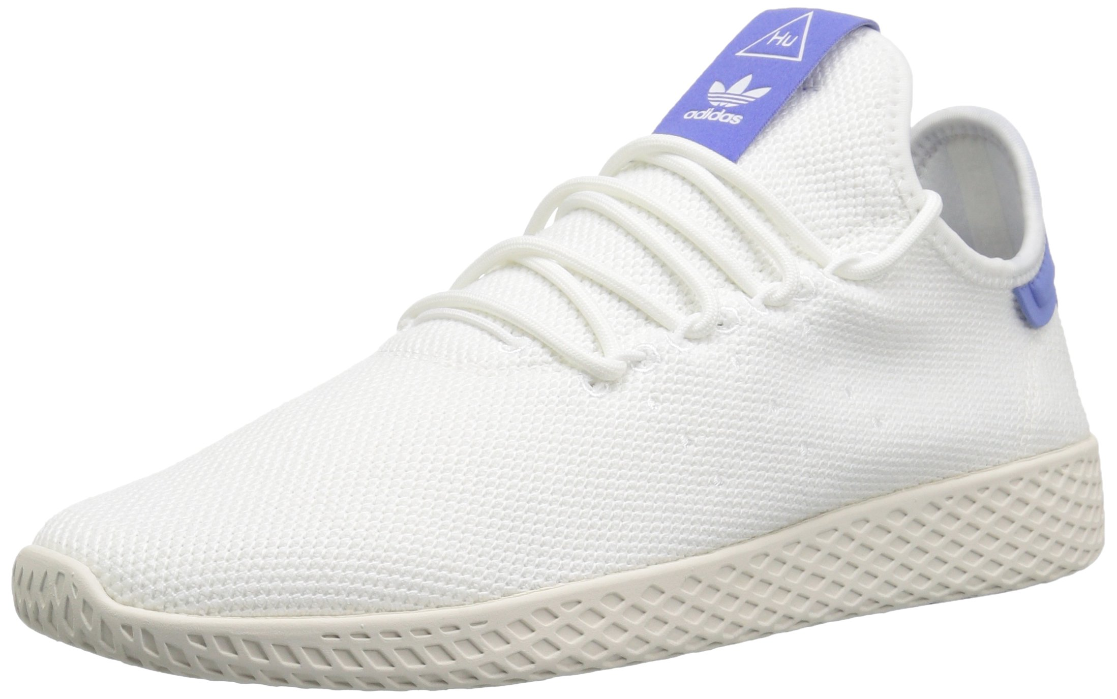 adidas Originals Men's Pharrell Williams Tennis HU Running Shoe, White/Chalk, 5.5 M US by adidas Originals (Image #1)