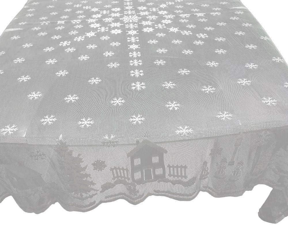 TAOtTAO - Mantel de Encaje Blanco para decoración del hogar, C 152x213cm: Amazon.es: Deportes y aire libre