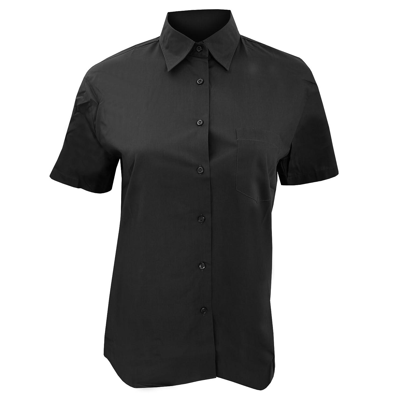 SOLS Womens/Ladies Energy Short Sleeve Poplin Work Shirt (XS) (Black):  Amazon.in: Clothing & Accessories