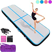 FunWater 10ft//13ft//20ft Air Track Inflatable Gymnastics Tumbling Mat 4in//6inThick Tumbling Air Track Mat with Electric Air Pump for Cheerleading//Practice Gymnastics//Beach//Gym//Home Use