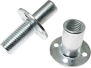 PSCCO 304 Stainless Steel Tee Nut Brad Hole Screw-in T-Nut Bedpost Connector Furniture Hardware Fittings M20