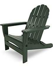 Poly-Wood AD7030GR Classic Oversized Curve Back Adirondack Chair, Green