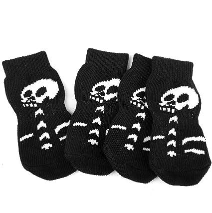 SODIAL(R) Calcetines de gato chucho Proteccion de pata del perro mascota S