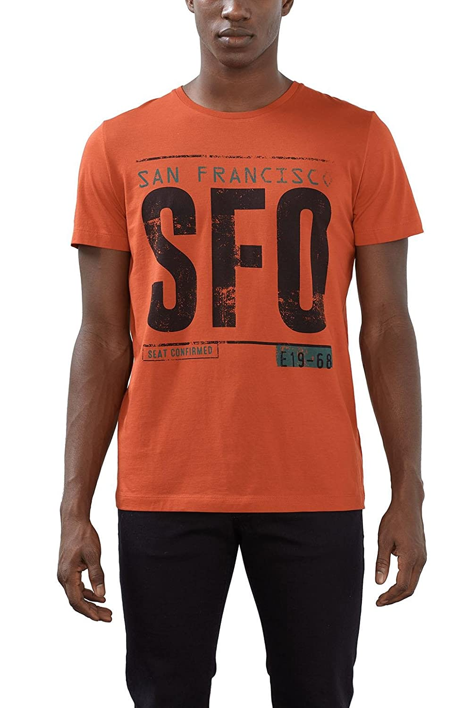 Esprit 027ee2k025, Camiseta para Hombre, Rojo (Red) 3X-Large ...