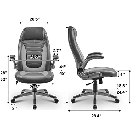 Best Office Chairs For Back Support >> Amazon Com Office Chair Back Executive Swivel Chair Best Office