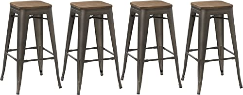 BTEXPERT Markazz 30 inch Stacking Bar stool