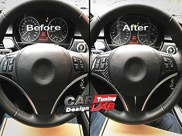 1 Carbon Overlay Steering Wheel Cover Trim For Bmw 1 Series E87 E90 E91 E92 E93 Lci 2008 2013 Auto