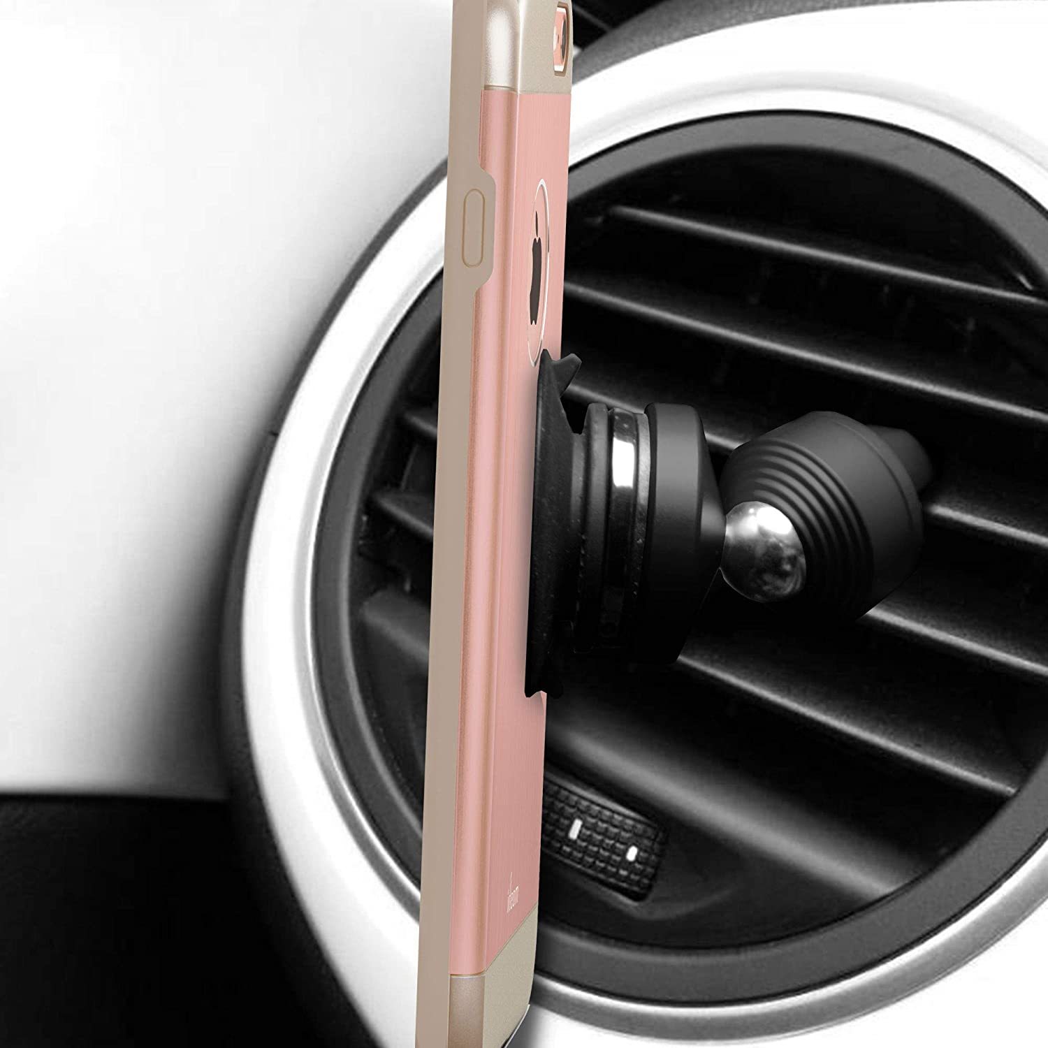 FH Group Air Vent Magnetic Phone Car Mount + Suction Cup Ring Holder (FH3033-BLACK)