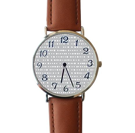 39207042b001 ERT8OII Tela por el Patio Dotty Stripe On Sidewalk Gris by 1 Reloj Personalizado  Números Romanos Reloj