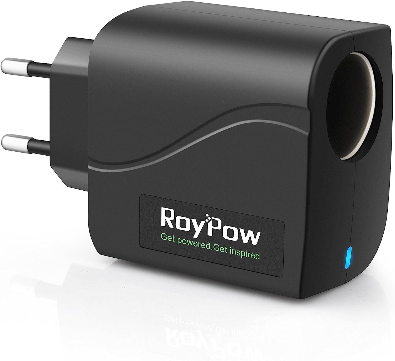 RoyPow convertidor de Transformador de alimentación 24W 12V2A Adaptador de CA a CC / 220V a 12V Enchufe del Encendedor del Coche