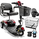 Go-Go LX with CTS 3-wheel Electric Scooter Pride Mobility S50LX + Challenger Accessories BUNDLE