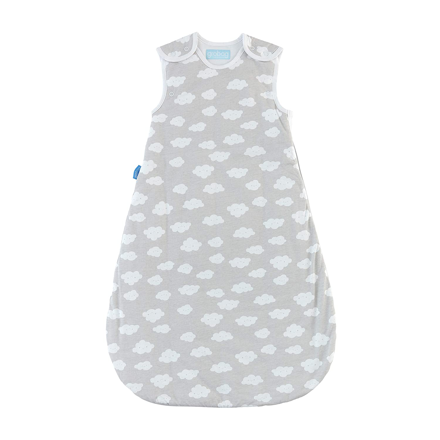 official photos a56d5 1d787 Tommee Tippee Grobag Baby Cotton Sleeping Bag, Sleeping Sack - Light 1.0  Tog for 69-74 Degree F - Fluffy Clouds - Medium Size, 6-18 months, Grey
