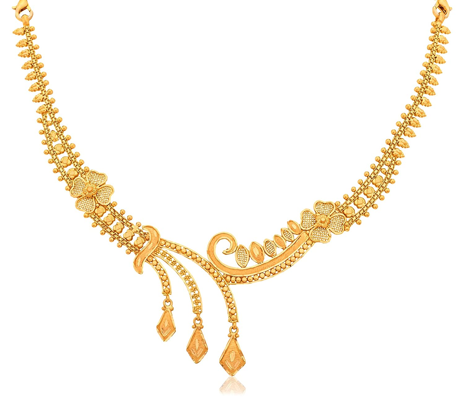 15 Best Gold Necklace Designs in 40 Grams | Styles At Life