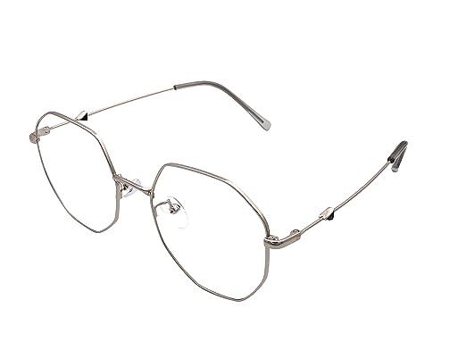 8286ddd9046 XYAS Women Glasses Frames Round shape triangle pattern light retro korean  style glasses frames (Silver)  Amazon.co.uk  Clothing