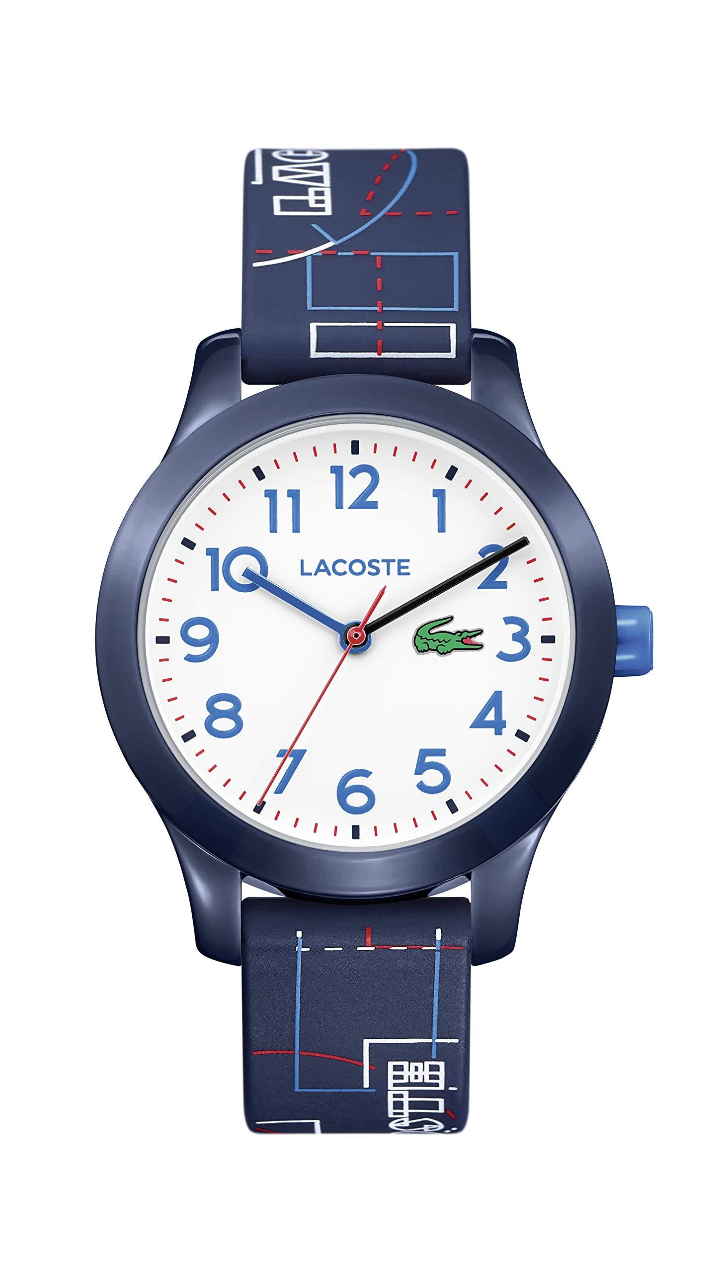 Lacoste Kids Lacoste.12.12 Kids Quartz TR-90 and Rubber Strap Casual Watch, Color: Blue (Model: 2030008)