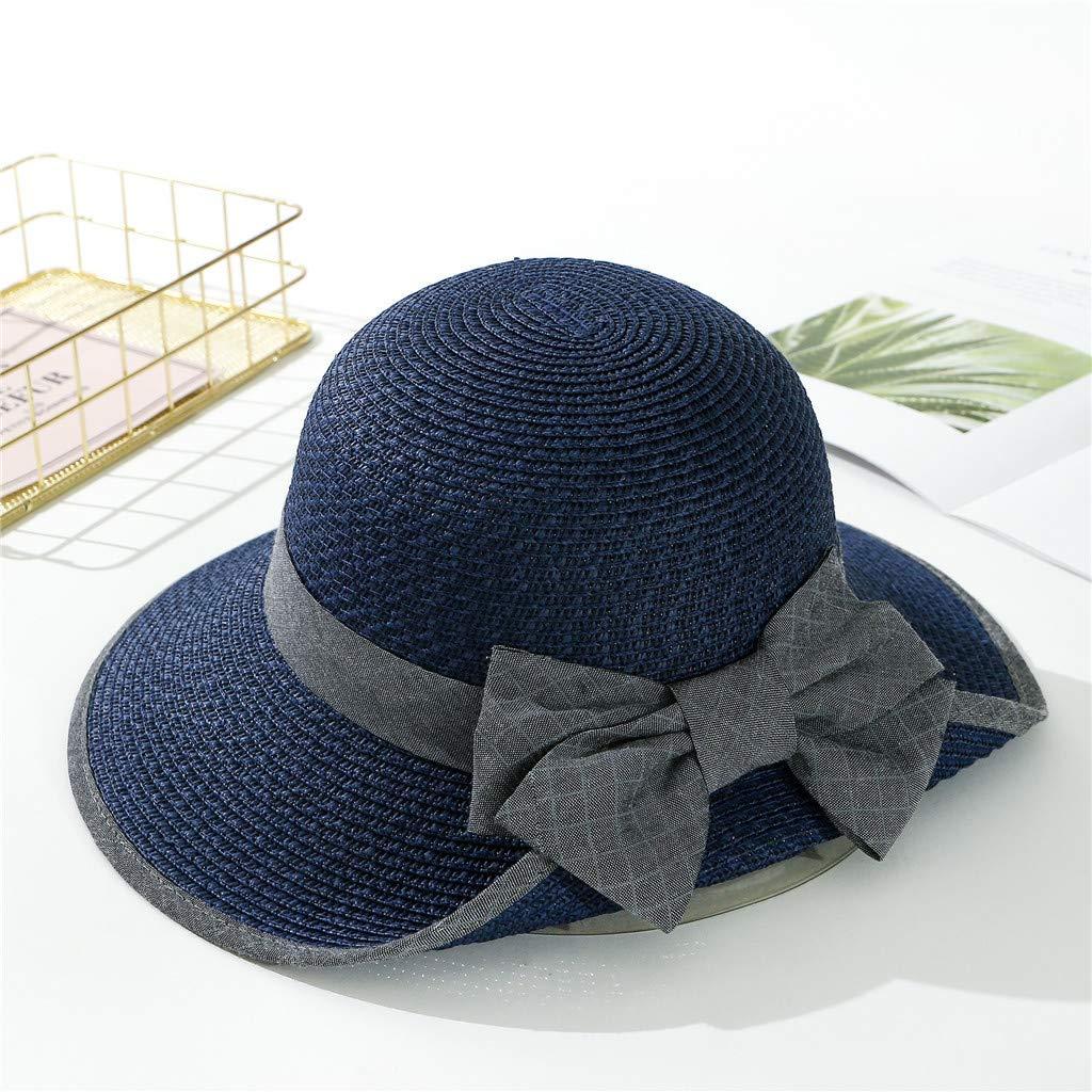 ofertas exclusivas gran venta de liquidación gran descuento de 2019 LOPILY Sombrero de Paja Visera Verano Color SóLido Sombra ...
