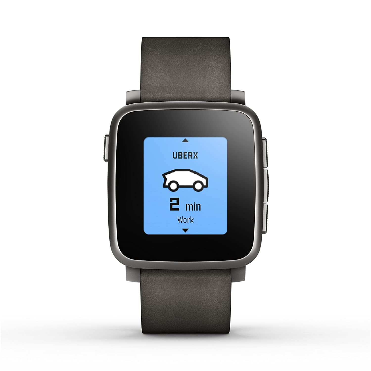 Amazon.com  Pebble Time Steel Smartwatch for Apple Android Devices - Black   Cell Phones   Accessories 8a69e3fd68be5