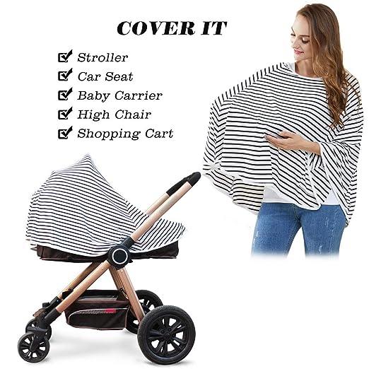 Cubierta de lactancia para bebés y poncho de lactancia - Cubierta para carrito de la compra, Cubierta para cochecito, Protección de lactancia con ...