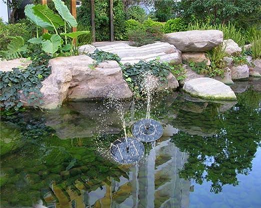 Topdeal 16,5 Cm Outdoor Solar Powered Wasser Schwimmende Pumpe Brunnen,  Garten Teich Springbrunnen Set, Freistehend, Garten 1.4 W Solar Panel Kit  Wasser ...