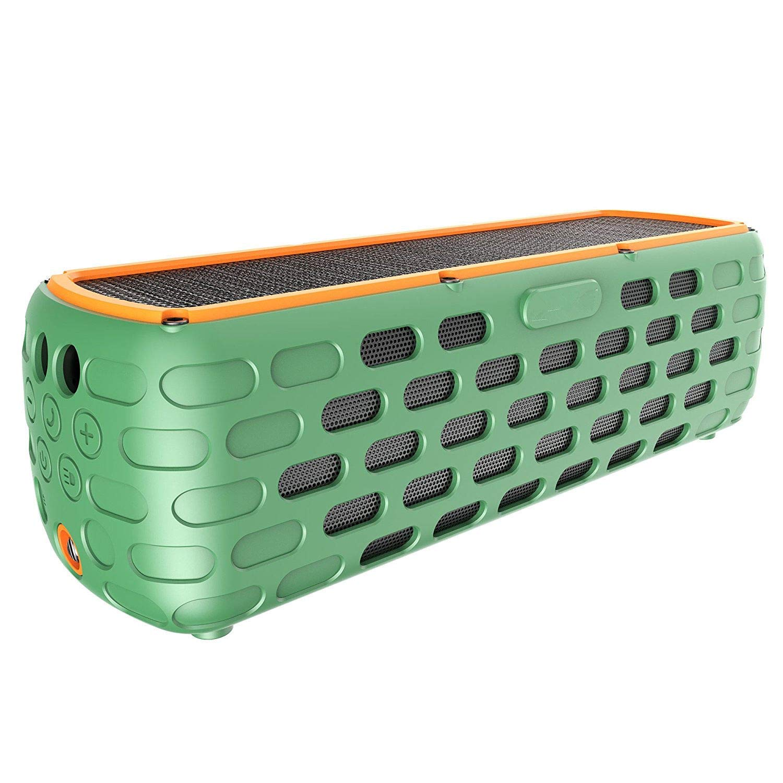 FidgetFidget Portable Solar Bluetooth Speaker Lime 30+Hours Playtime Portable Water Resistant