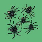 Vinyl Stretchable Spiders (1-Pack of 12)
