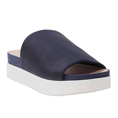 5480dd6e0f21 Wanted Shoes Women s Rubber Gelato Platform Sandal 6 B (M) US Navy ...