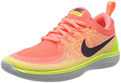 super popular 2925a 21ee5 Nike WMNS Free RN Distance 2, Chaussures de Running Compétition Femme,  Orange (Lava