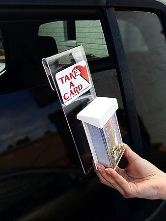 Amazon marketing holders window hook advert vertical premium marketing holders window hook advert vertical premium outdoor business card holder qty 2 vertical business card colourmoves