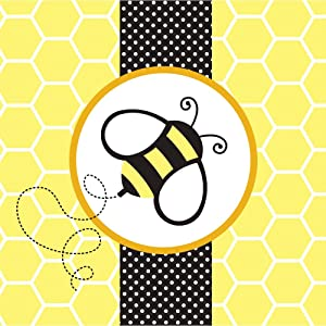 Creative Converting Baby Shower Buzz 18 Count 2-Ply Paper Lunch Napkins