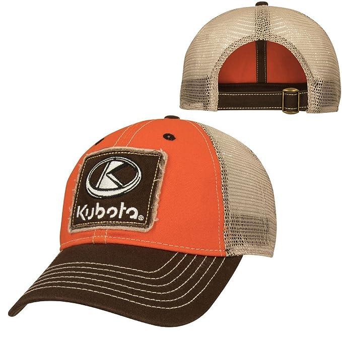 2107337d24b Amazon.com  Kubota Orange Brown Trucker Cap  Clothing
