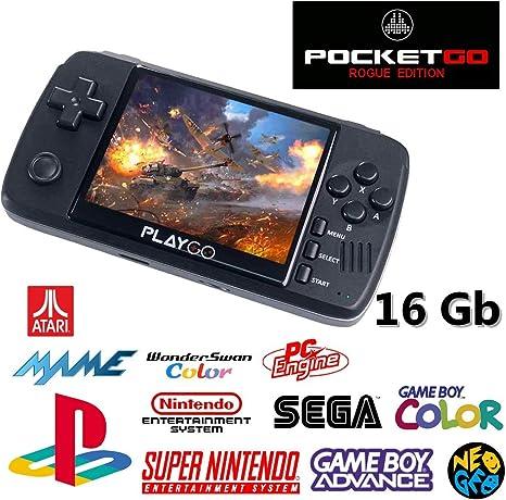 Consola Bittboy PocketGo v2 / PlayGo Negra + 16 Gb MicroSD + RogueFW Update: Amazon.es: Videojuegos