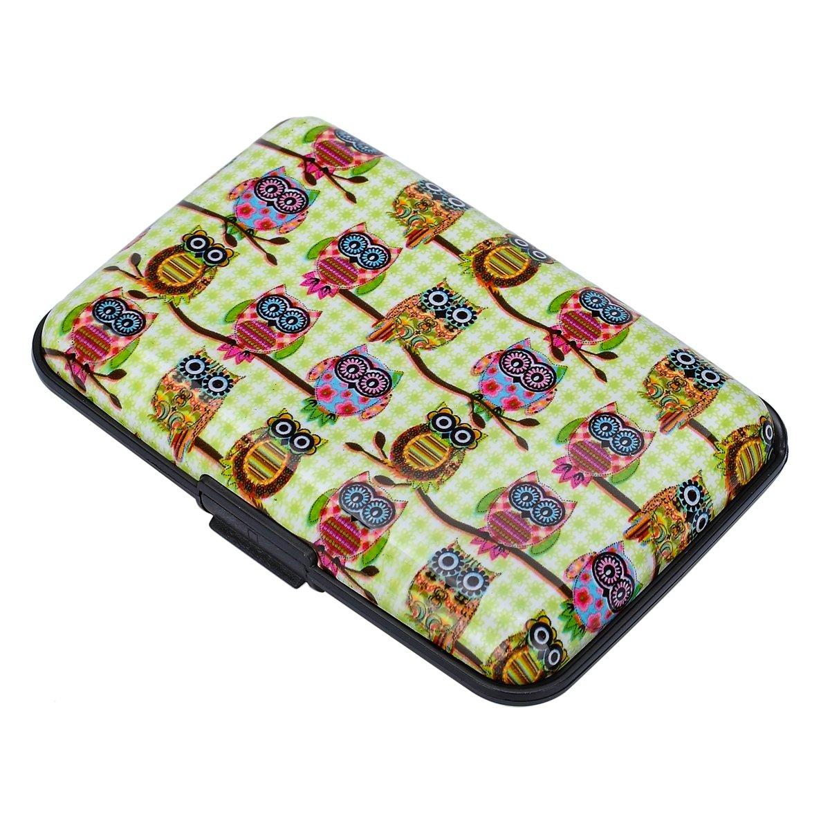 HOUSWEETY Womens Owl Pattern Long Wallet Purse Case Card Holder Coin Purse Makeup Bag HOUSWEETYG88601