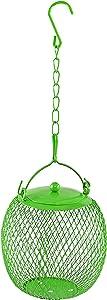 Home-X Bird Feeder Ball for Bird Seed, Iron Mesh Outdoor Bird Feeder, Hanging Feeder for Outdoor Birds, 4 ¾