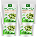 Moringa Kapseln 500 VEGGIE Oleifera hochdosiert 600mg – 100% vegane Rohkost von MoriVeda (4x125 Kapseln)
