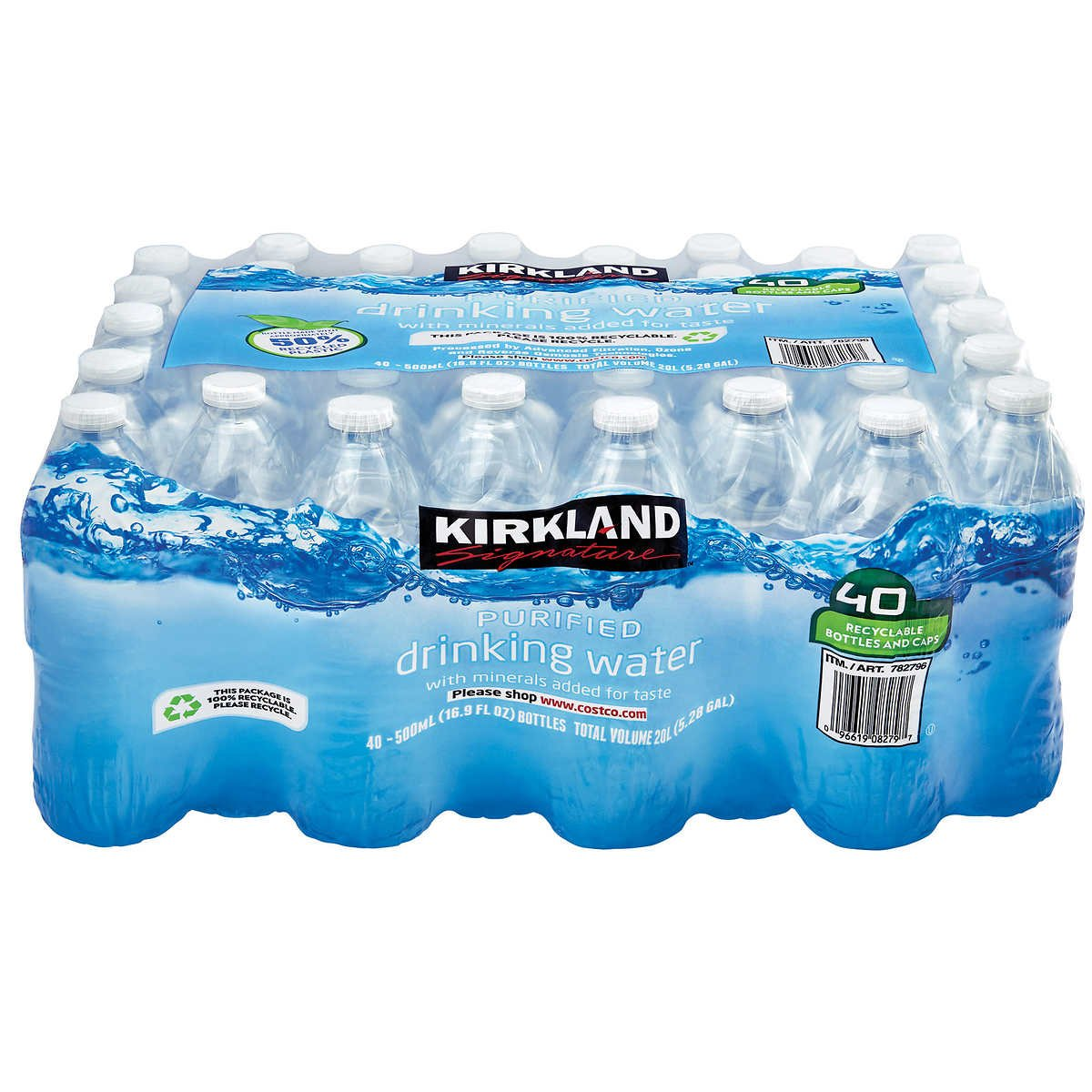 Kirkland Signature Purified Drinking Water, 16 9 Ounce