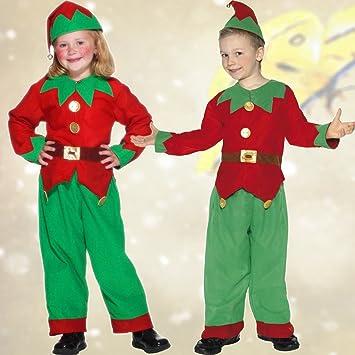 Ropa de gnomo para Niño Traje de Enanito M 134/140 cm Años 6 - 8 Vestimenta Duende de Navidad Traje Navideño Infantil Atuendo de Enano Ropa Elfo Carnaval: Amazon.es: Juguetes y juegos