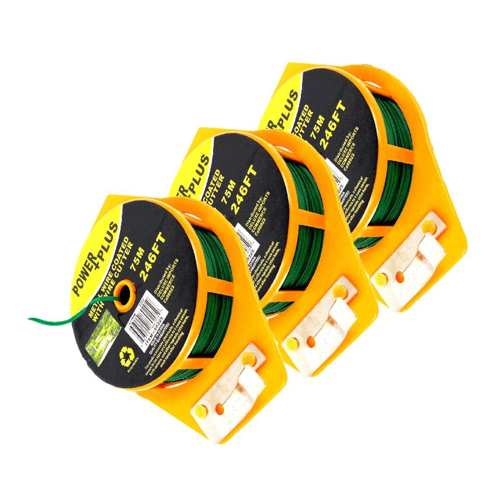 Plant Twist Tie 246 Ft W/cutter, Sturdy Green Coated Wire (Pack of 3)