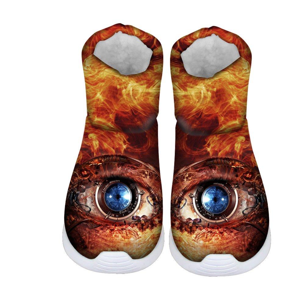 FOR U DESIGNS Gold Machine Eye Print Kids Funny Warm Short Snow Boots US 3
