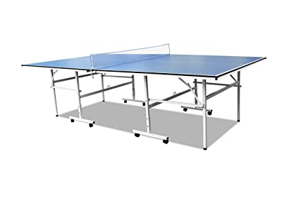 T&R sports Ping Pong Tables Folding Table Tennis Table 1/2 Inch Pro Size Foldable