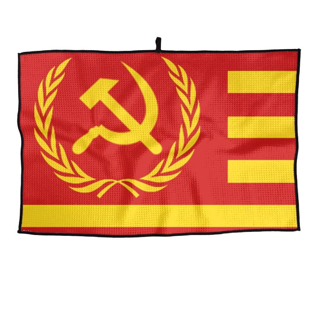 ゲームライフの社会主義共和国の国旗Personalizedゴルフタオルマイクロファイバースポーツタオル   B07FC6PP66